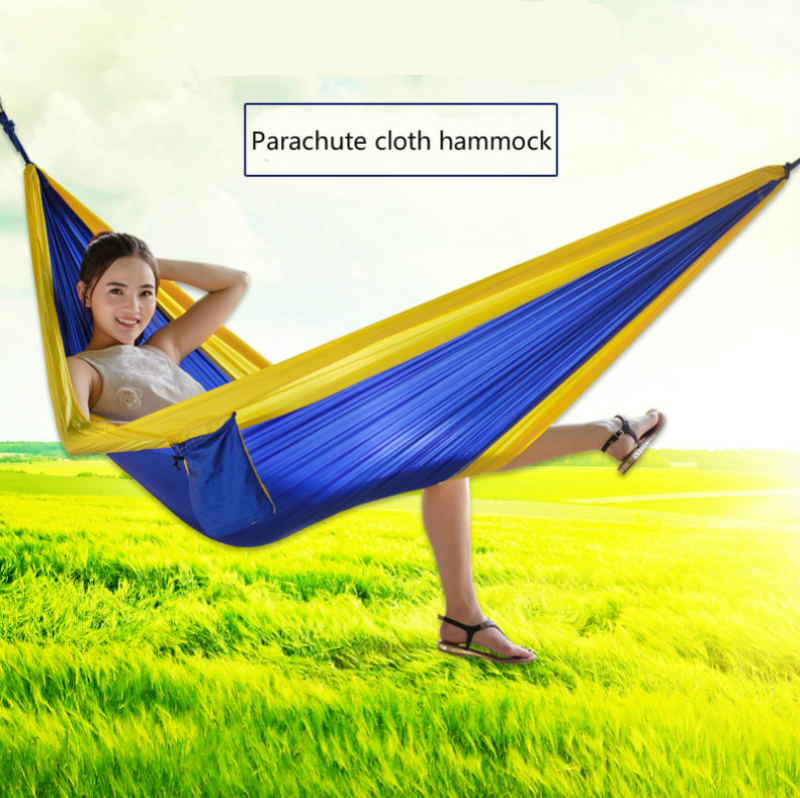 Outdoor Parachute Cloth Hammock Individual and Double Person Leisure Indoor Swing Tourist Climbing Portable Collapsible Hammock parachute hammock parachute hammock double muebles exterior
