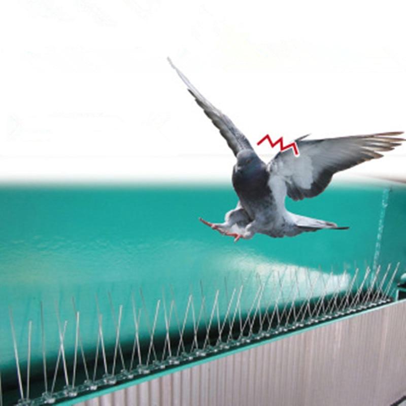 Púas de pájaro y Paloma de plástico de 2,5 m para eliminar palomas y espantar a las aves