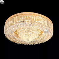 European Luxury Golden Chandelier Circular Living Room Lamp Lights Luxury Hotels And Villas Ceiling Lights Wwy