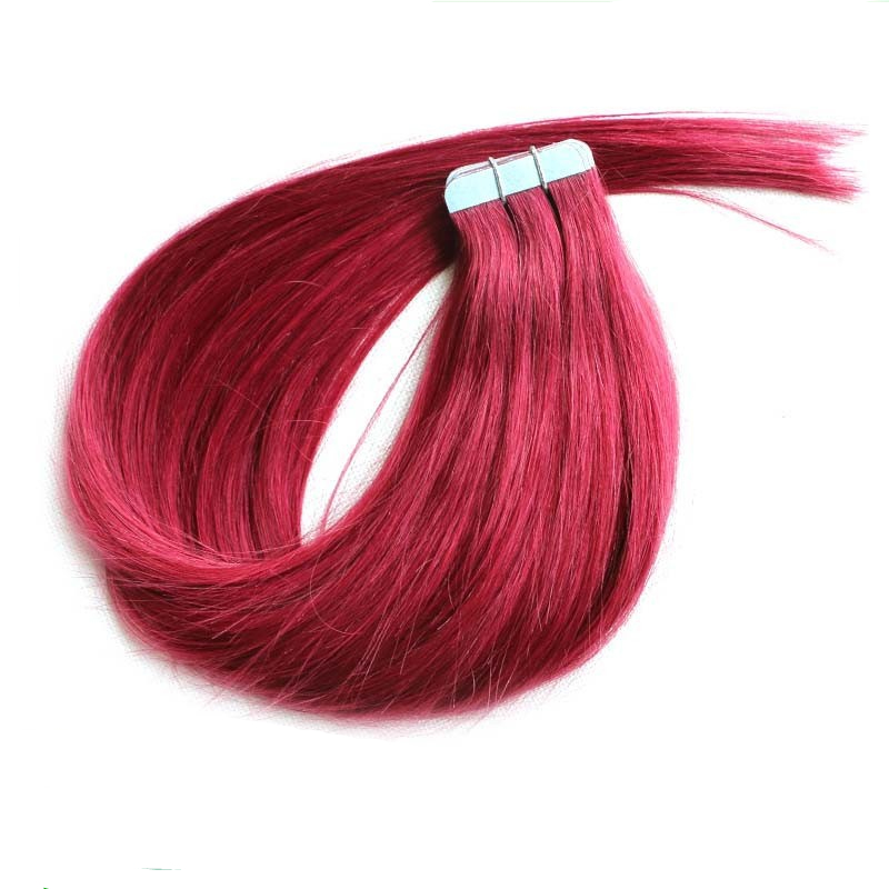 530 plumcherry red cheap tape hair extensions natural human hair 530 plumcherry red cheap tape hair extensions natural human hair extensions silky brazilian virgin hair remy tape skin weft in skin weft hair extensions pmusecretfo Image collections