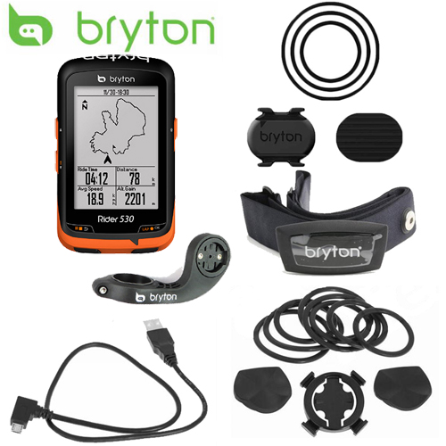 Bryton Rider 530 GPS Bicycle Bike Cycling Computer & Extension Mount ANT+ Speed Cadence Dual Sensor Heart Rate Monitor bryton rider 530 gps cycling computer