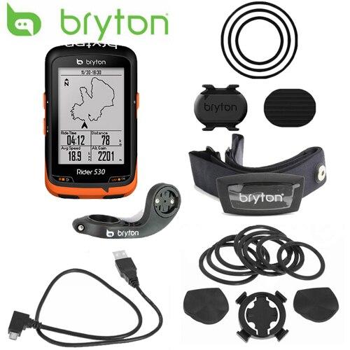 Bryton Rider 530 GPS Vélo Vélo Vélo Ordinateur et Mount Extension ANT + Vitesse Cadence Double Capteur Moniteur de Fréquence Cardiaque
