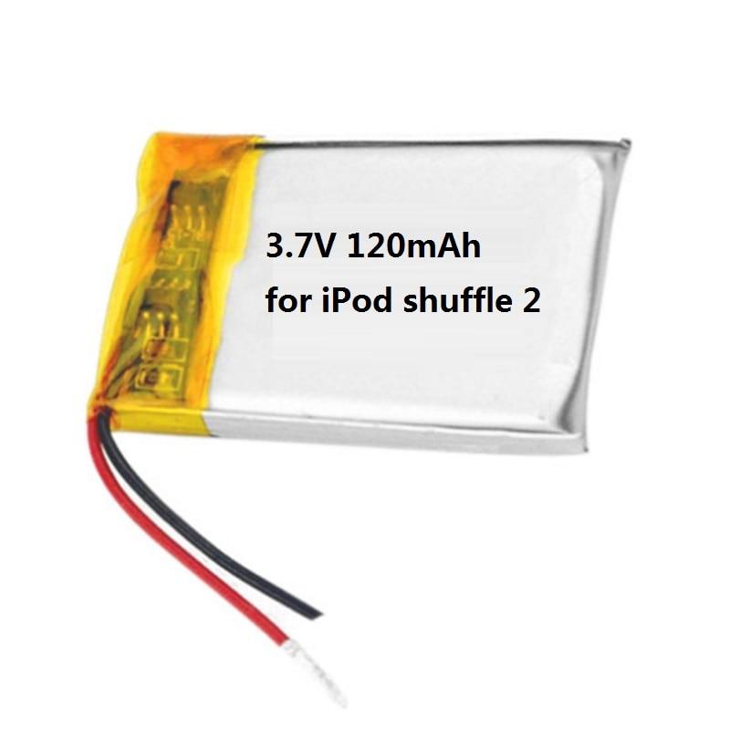 Replacement Battery for Apple iPod Shuffle 2nd Gen 3.7V 120mAH Li-Polymer