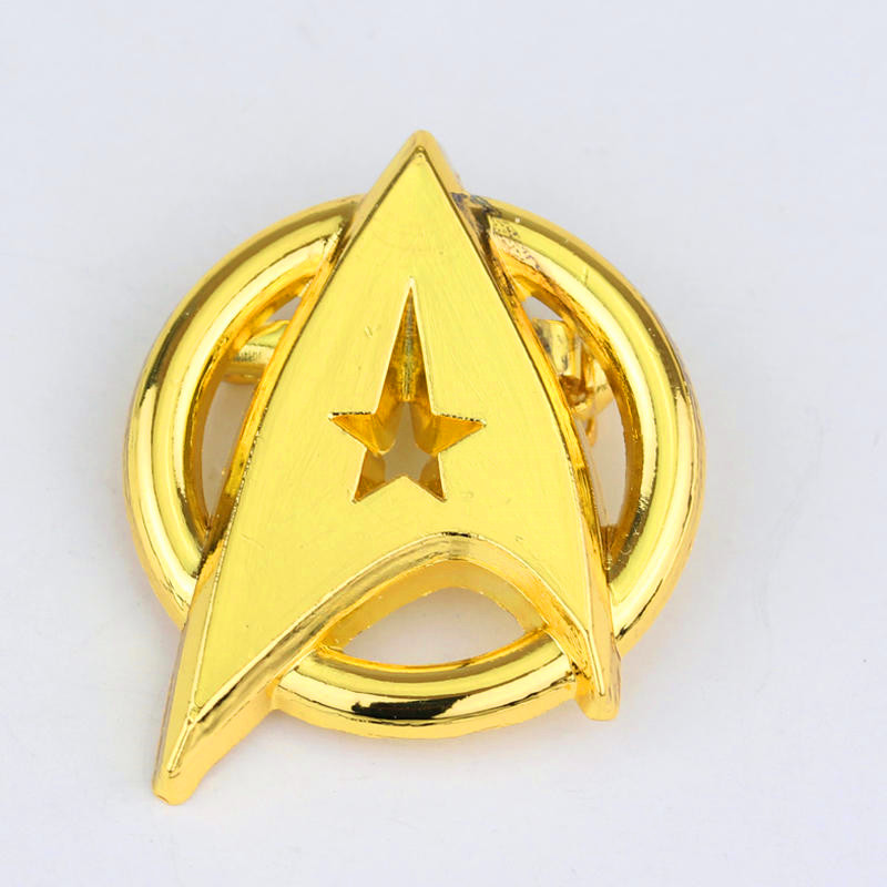 StarTrek captain Badge cosplay costume brooch metal prop Accessories