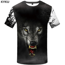 KYKU Brand Wolf T-shirt Pattern Shirt 3d T shirt Men Clothes 2018 Funny shirs Punk Tshirt Streetwear Fashion Clothing Summer