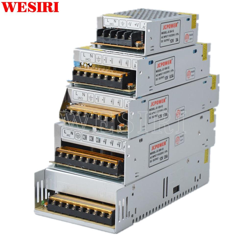 Lights & Lighting 12v Switch Led Power Supply Transformer 1a/3a/5a/6.5a/8.5a/10a/12.5a/15a/16.5a/20a/25a/30a/40a/50a/60a Led Strips