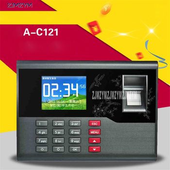 A-C121 TCP/IP biometric fingerprint time Recording system office employee time clock machine for access control system 12V