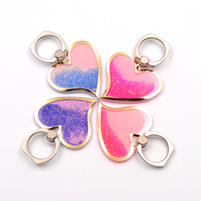 Liquid Glitter Heart Phone Ring -8 Colors
