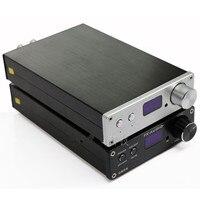 FX-Audio D802 удаленного Управление Вход amplificador аудио HiFi 2,0 чистый цифровой аудио усилитель 24Bit/192 кГц 80 вт + 80 Вт OLED Дисплей