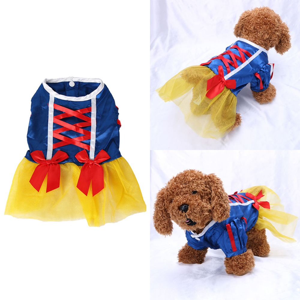 Clothes for dogs Pet Dog Tutu Dress Princess Costume Satin Cloth Wedding Dresses Puppy Skirt
