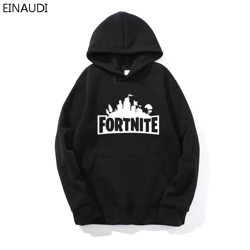 EINAUDI бренд Fortnite свитер с капюшоном Для мужчин хлопок пуловер с капюшоном хип-хоп мода мужчины кофты письмо Fortnite пуловер