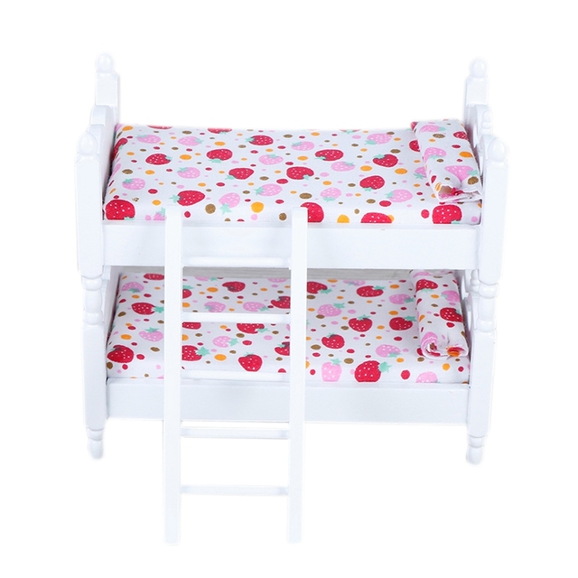 1:12 Handmade Toy House Children'S Play House Bedroom Bunk Bed Dolls Furniture Accessories Children'S Toys