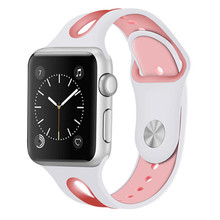 Hollow Colorful Sport Silicone strap For Apple watch series 3 2 1 Iwatch bands 42mm 38mm bracelet wrist belt Rubber watchband