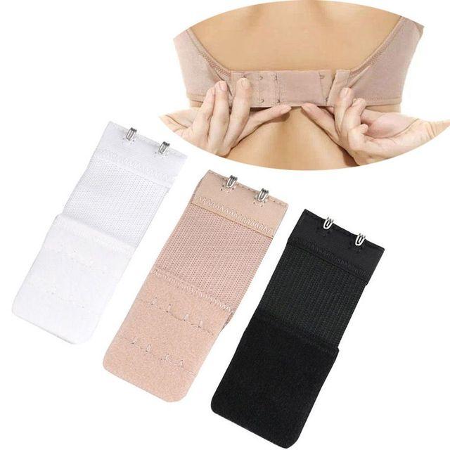 2Pcs Ladies 2 Hook Bra Extender Soft Bra Extension Strap Underwear Belt Adding