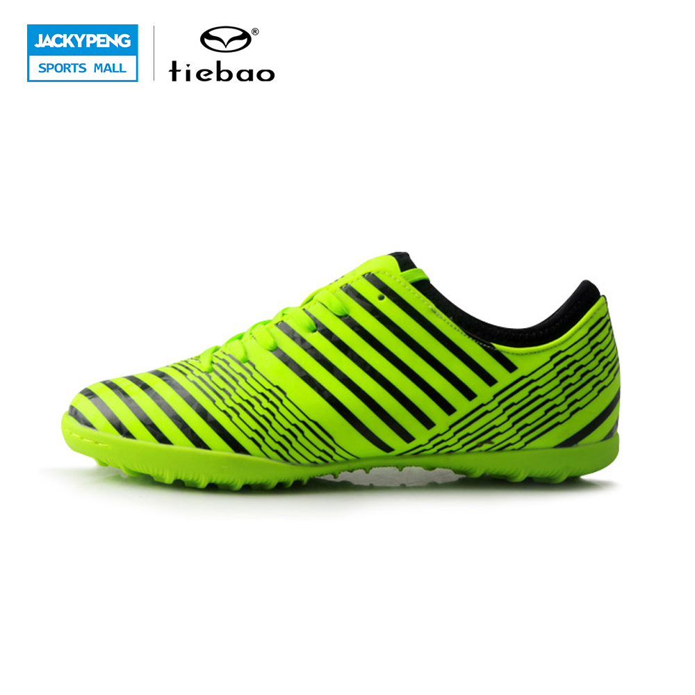 TIEBAO Football 2017 New Soccer Shoes Men Outdoor TF Turf Sole Soccer Boots Football Shoes Adults Athletic Chuteira Futebol commercial sea inflatable blue water slide with pool and arch for kids