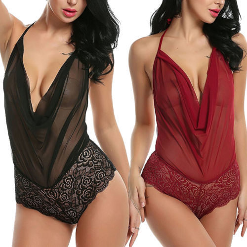 Lace Teddies Bodysuits  2