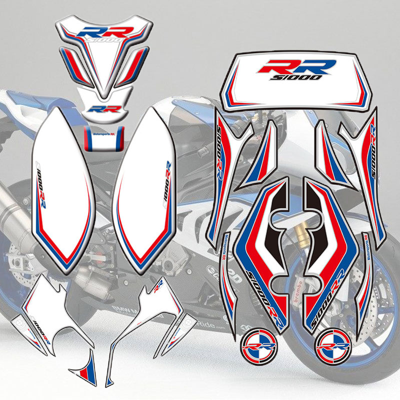 Motorcycle Front Rear Fairing Engine Vehicle sticker 3D Edge Gel Protection Tank Paint pad for BMW S1000RR 2012 2014 2013