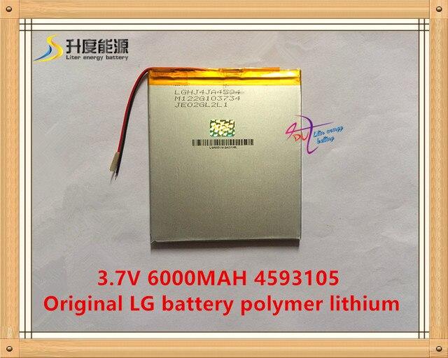 3.7 В, 6000 мАч, 4593105 Оригинал Lg батареи полимер литий-ионный аккумулятор; SmartQ T20, ONDA VI40, P85 AMPE A86 Dual Core Tablet PC