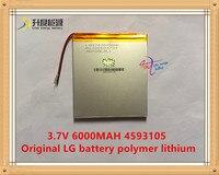 3 7V 6000mAH 4593105 Original L G Battery Polymer Lithium Ion Battery SmartQ T20 ONDA VI40