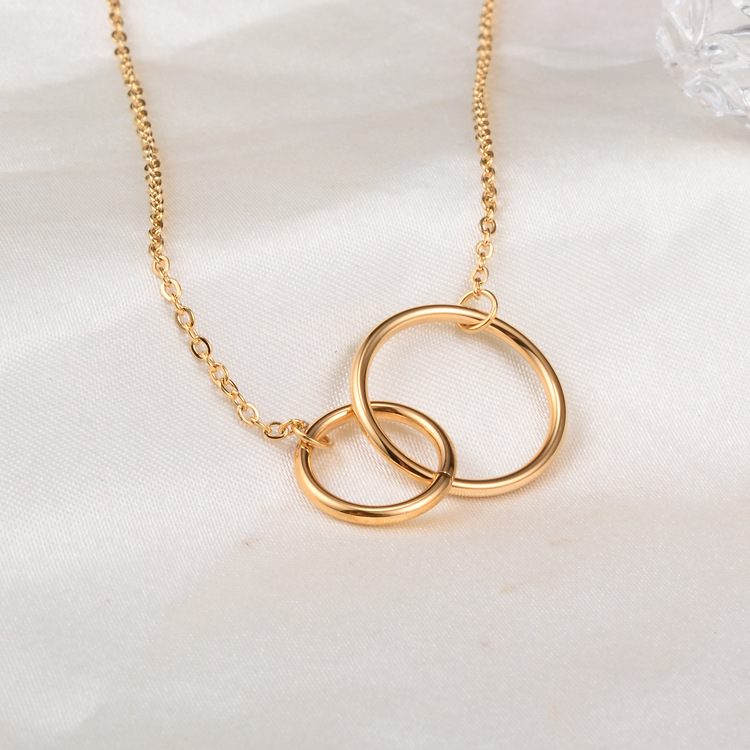 Gold color double circle necklaces pendants colares 2018 gold color double circle necklaces pendants colares 2018 stainless steel choker necklace women jewelry bijuterias joias in pendant necklaces from jewelry aloadofball Choice Image