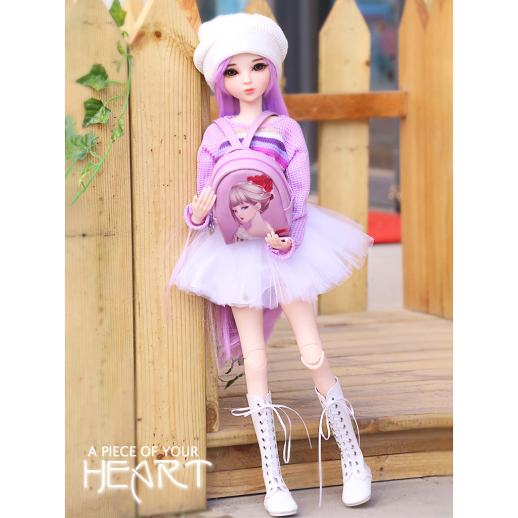 New Sweet Doll Sweater Mini Skirt Hat Clothing Set for 1/3 BJD SD BJD SD AS DZ DOA MSD LUTS Dollfie Dress Up Dolls Accessories bjd bb black high leather boots for 1 6 yosd super dollfie luts dod as dz doll shoes sb16
