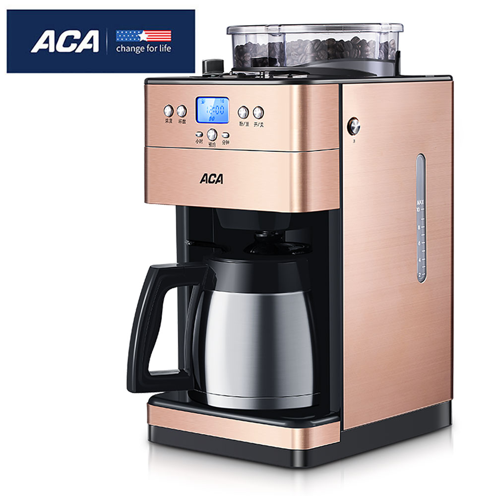 где купить ACA American Drip Coffee Machine AC-GS125 9-speed Grinding Automatic Freshly Grinding Machine Home Automatic Grinding Ma дешево