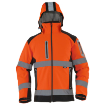 High quality orange softshell jacket high visibility Reflective safety jacket workwear outdoor wear free shipping