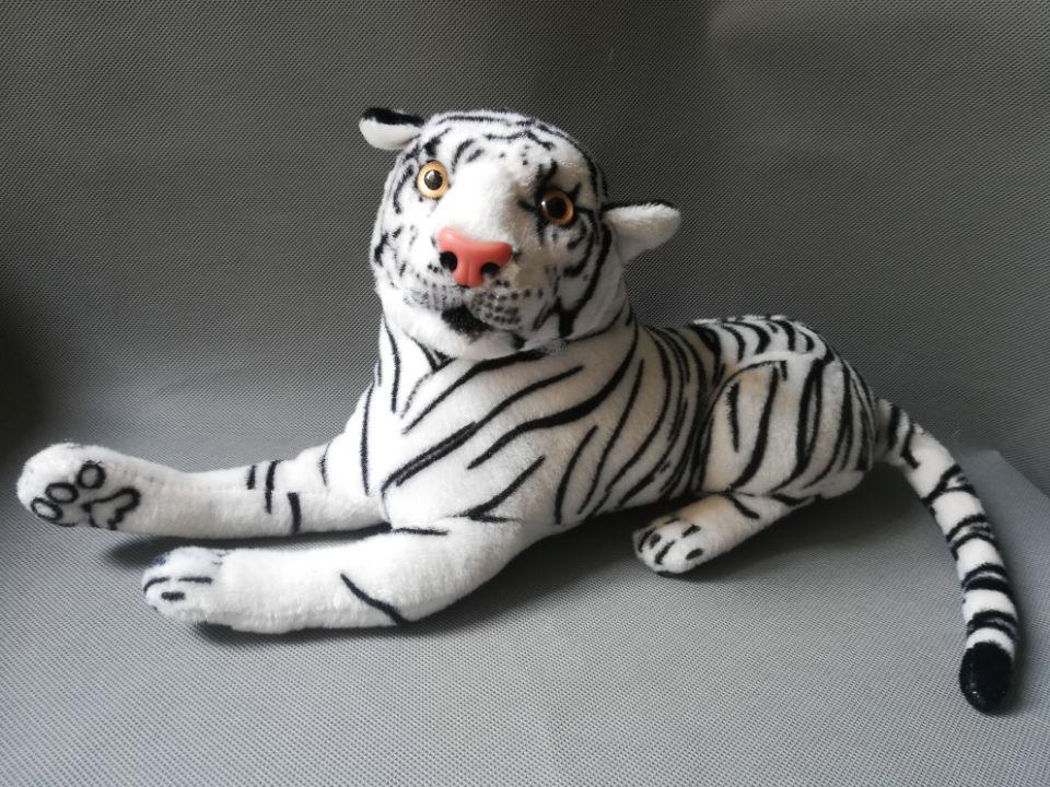 421dd21323d7d7 ᐊO 40 cm pluszowe leżącego tygrysa zabawki biały tygrys lalka ...