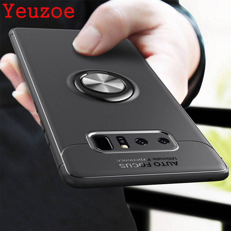 Yeuzoe Fashion For <font><b>Samsung</b></font> <font><b>Galaxy</b></font> <font><b>Note</b></font> <font><b>8</b></font> Note8 case silicone Finger Ring bracket for <font><b>samsung</b></font> <font><b>Note</b></font> <font><b>8</b></font> N950F <font><b>N950N</b></font> N950FD Case image