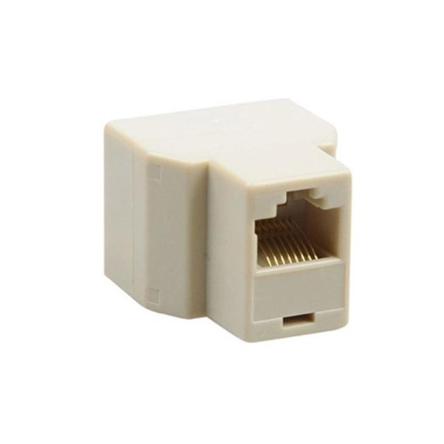 RJ45 Splitter Connector 1 to 2 Way Dual Female Cat6/5/5e RJ45 Lan Ethernet Network Splitter Adapter Extender Plug Coupler