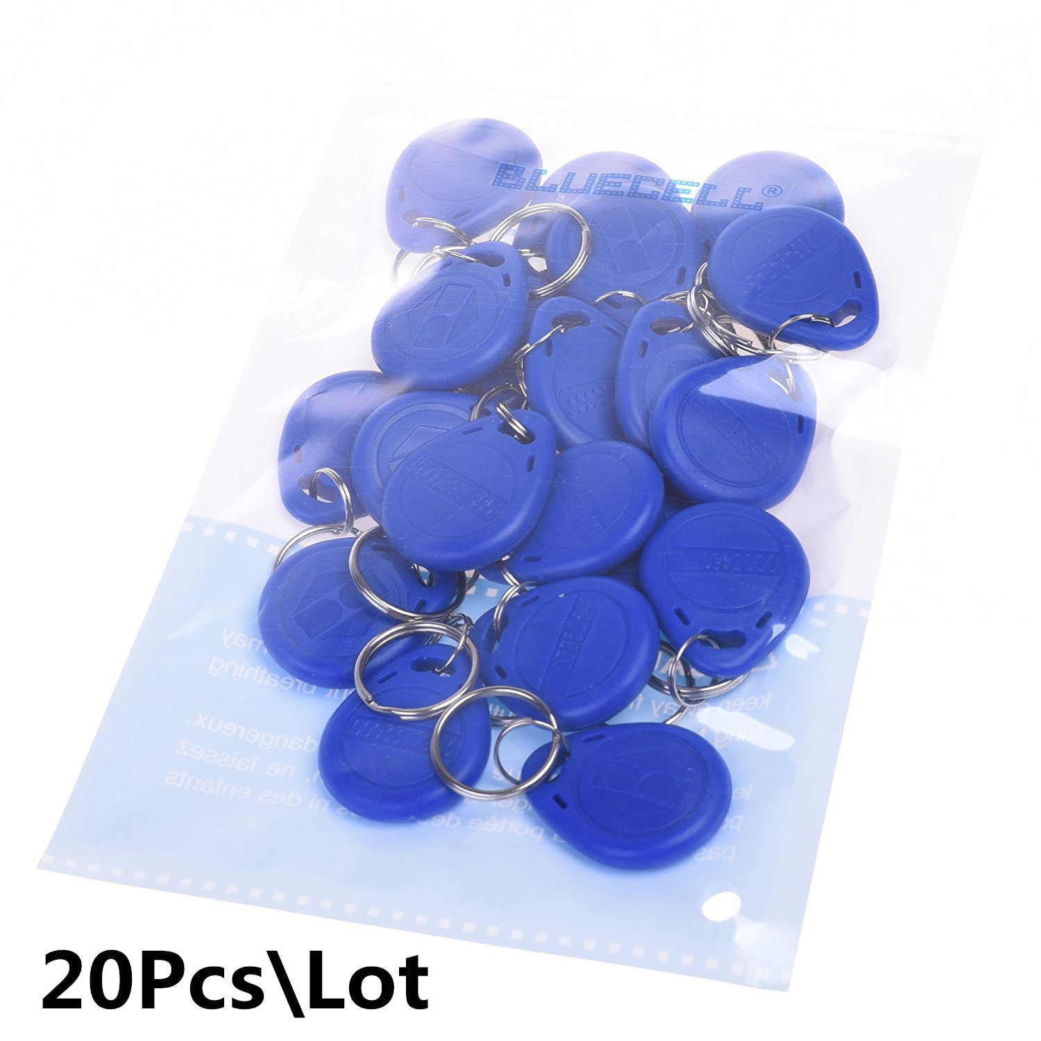 20Pcs/Lot 125khz Wholesale New Rfid Proximity ID Card Token Tags Key Keyfobs Blue Door Access Control Time Attendance Hotel 10pcs access control rfid keyfobs 125khz proximity id token tag key keyfobs blue color for door access control system f1661a