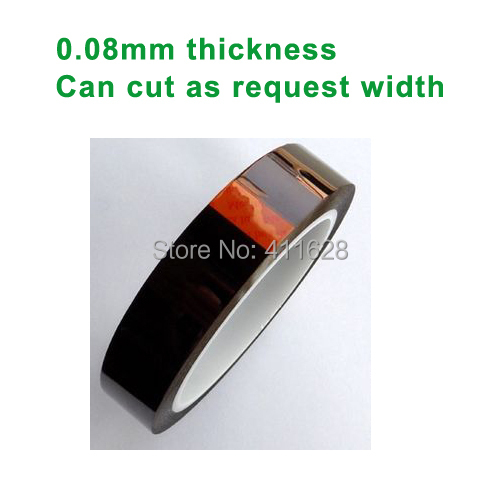 1x 50mm*33M*0.08mm High Temperature Withstand Tape, Adhesive Polyimide Film  for BGA, SMT, LED Strip Cellphone PCB Hot Appliance 5sheets pack 10cm x 5cm holographic adhesive film fly tying laser rainbow materials sticker film flash tape for fly lure fishing
