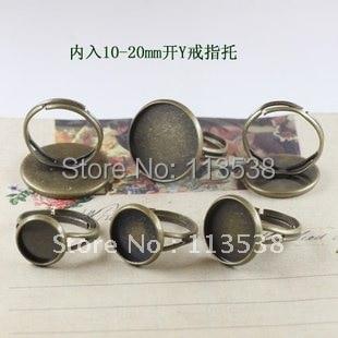 200 шт/партия античная бронза Регулируемый 16 мм кольцо база пустой для самодельных ювелирных изделий