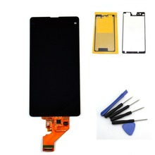 For Sony Xperia Z1 Mini Compact D5503 M51W LCD Display Touch Screen With Digitizer Assembly+ Adhesive+ Free Tools, Free Shipping