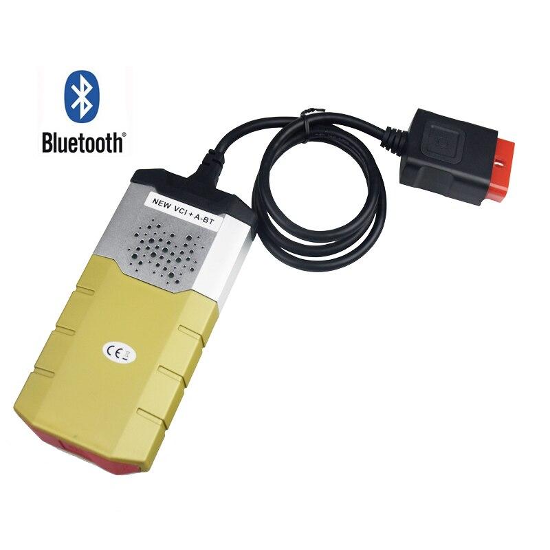 Goldene TCS CDP PRO Plus Bluetooth 2016,0 Multidiag pro OBD2 für autos lkw für delphis vd ds150e cdp Neue vci werkzeug für diagnose