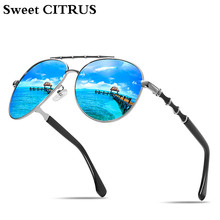 572fe27255274 CITRUS doce Unisex Das Mulheres Dos Homens Marca Óculos de Sol Clássicos  Polarizada HD UV400 Cor Espelho Óculos de Sol Masculino.