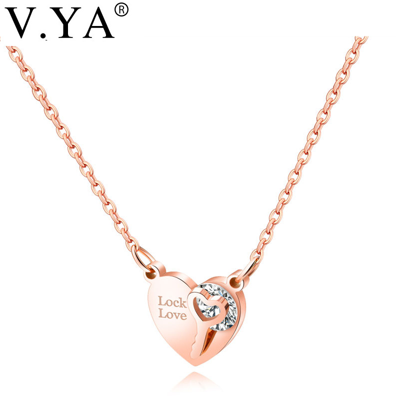 """Women/'s Heart Pendant Stainless Steel Necklace Lover Jewelry 20/"""" Chain"""