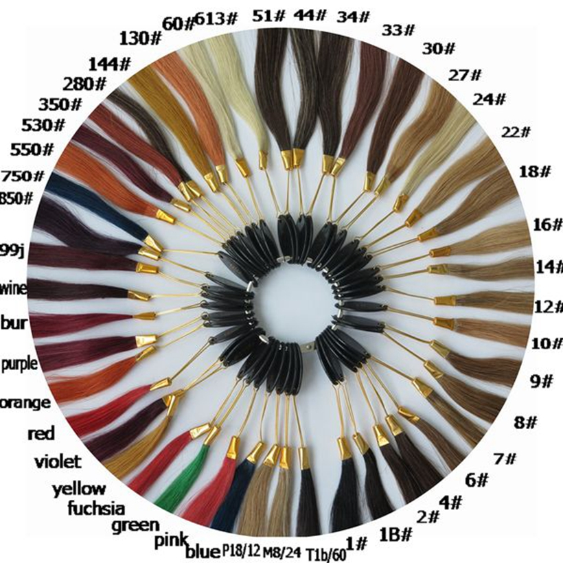Free shipping!! HARMONY Wholesale 46colors color chart hair color ring for salon and hair extensions 7sets/lot