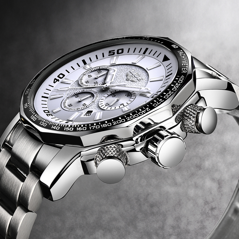 2018 Mens Watches LIGE Top Brand Luxury Men Waterproof Sport Military Watch Men Stainless Steel Quartz Clock Relogio Masculino burei mens watches top brand luxury men quartz analog clock stainless steel strap watches waterproof relogios masculino 2018 new