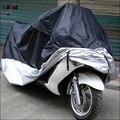 Открытый Водонепроницаемый УФ Протектор Мотоцикл Дождь Пыленепроницаемый Крышка Велосипед Мотоциклов Обложка Черного и Серебристого цвета Размер L