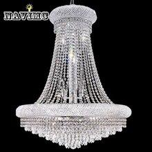 Luxury Vanity Large Crystal chandelier 14 lights modern light living room chrome lighting Fixture 70cmW x 90cmH