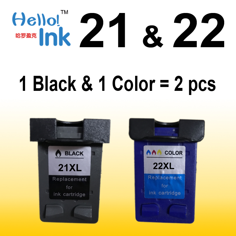 2Pcs XL Ink Cartridge replacement for hp 21 22 cartridges 21 and 22 for Deskjet 3915 3920 D1320 D1455 F2100 F2280 F4180 printer for hp 655 refillable ink cartridge for hp deskjet 3525 4615 4625 5525 6520 6525 for hp dey ink bottle 4 color universal 400ml