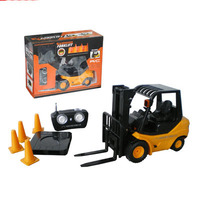 Big Size 1 10 RC CONSTRUCTION Forklift TRUCK With Lights Free Shipping
