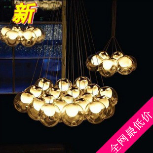 Double cover glass balls chandelier chandelier lamp glass ball ...