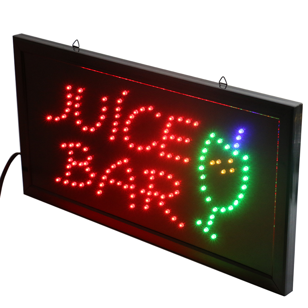 CHENXI Led Juice Bar Signs of Drinking Bar Shop Open Indoor 19*10 Inch Led Advertising