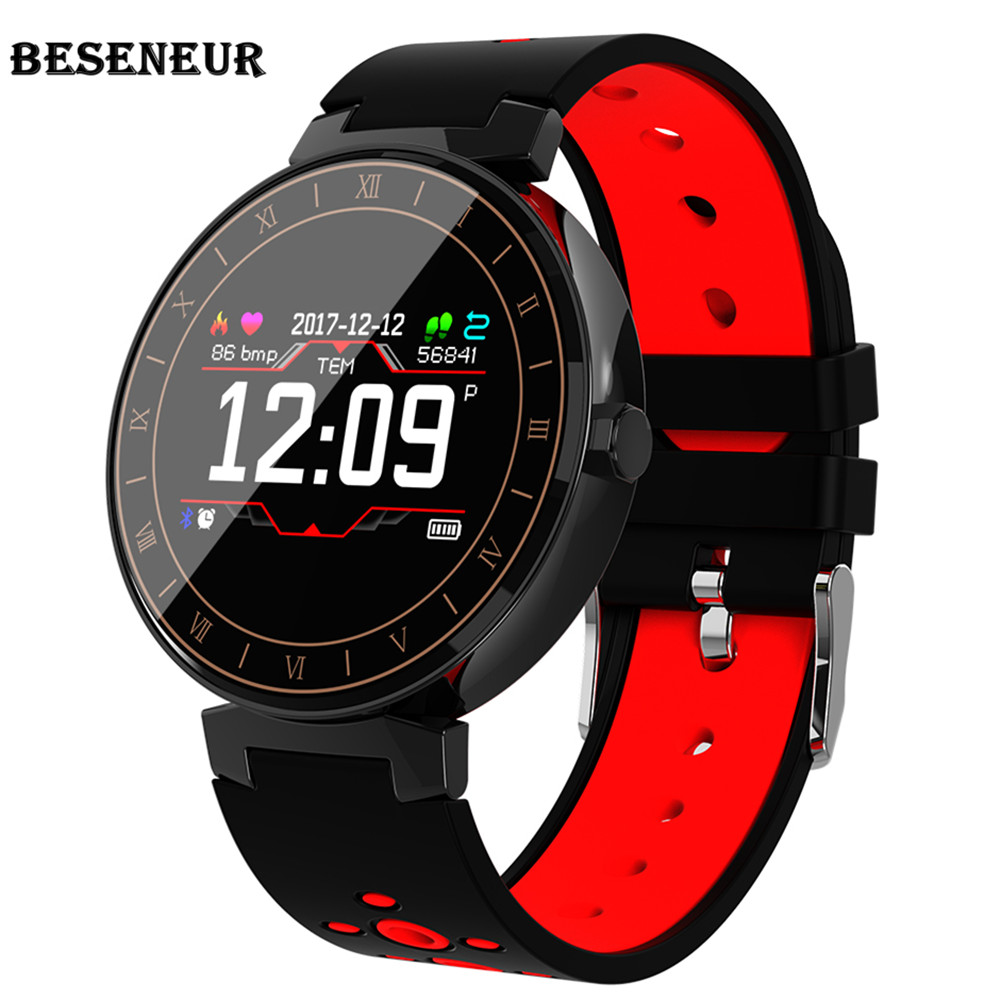 Beseneur L8 Smart Wristband Heart Rate Monitor IP68 Sport Fitness Bracelet Tracker Blood Pressure Smartband For Android IOS