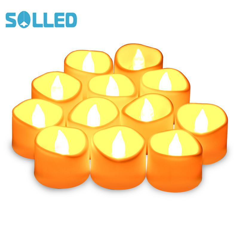 SOLLED 12PCS Flameless Candle Lights   Unscented & Long Lasting Candle Lights for Holiday Celebrations  Weddings  Birthdays etc.|  - title=