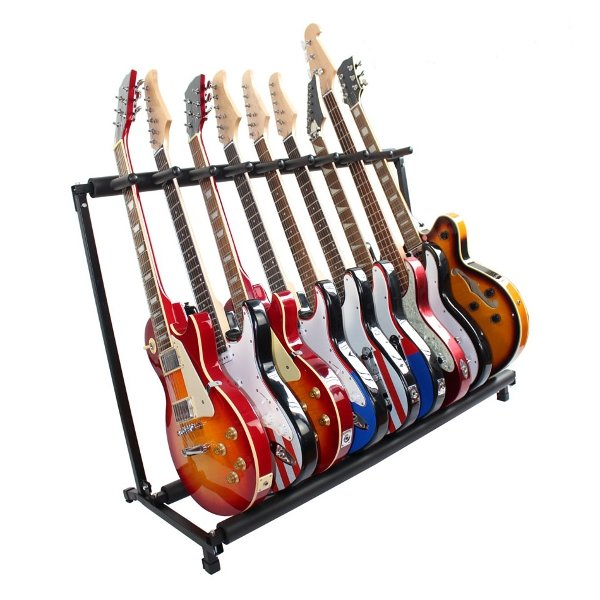 Multifunctional Guitar Holder Musical Instrument Guitar Folding Rack Display Stand wooden handcrafted miniature guitar model guitar 087 guitar display with case and stand not actual guitar for display only