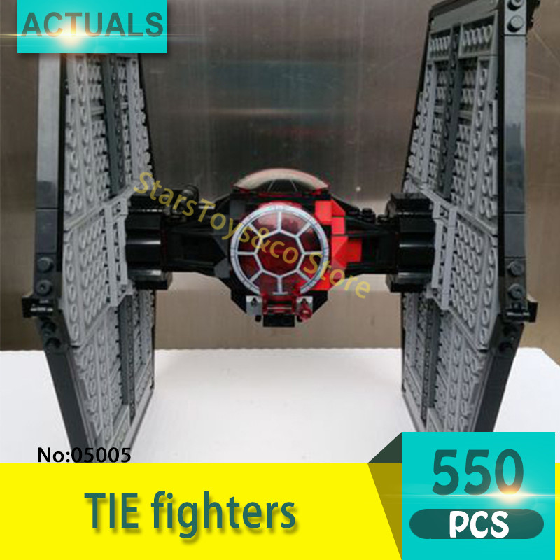 Lepin 05005 550Pcs TIE fighters  Model Building Blocks Set  Bricks Toys For Children Gift Action figures 75101 Star Series Wars