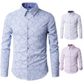 2016 Mens Business Shirts Casual Slim Long Sleeve Dresse Shirts Camisa Masculina Shirts Asian Cotton patchwork 66929